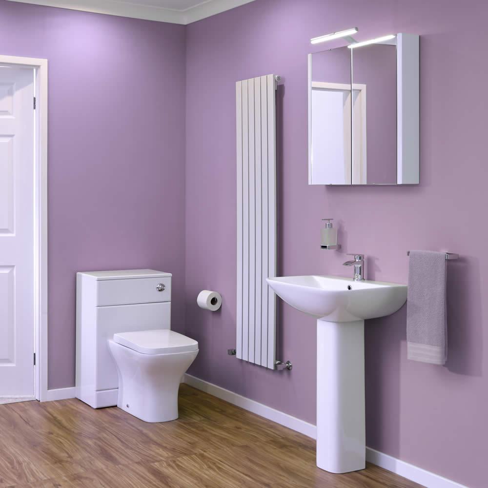 WC mit Schrank-Spülkasten und Waschbecken im Set - Harrison