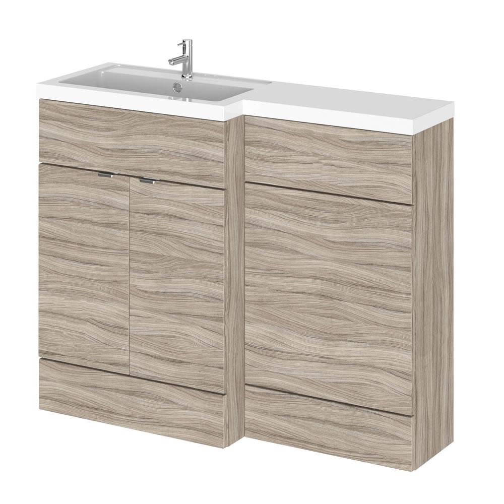 1100mm Waschtisch & WC Kombination - Treibholz -Waschtischeinheit links