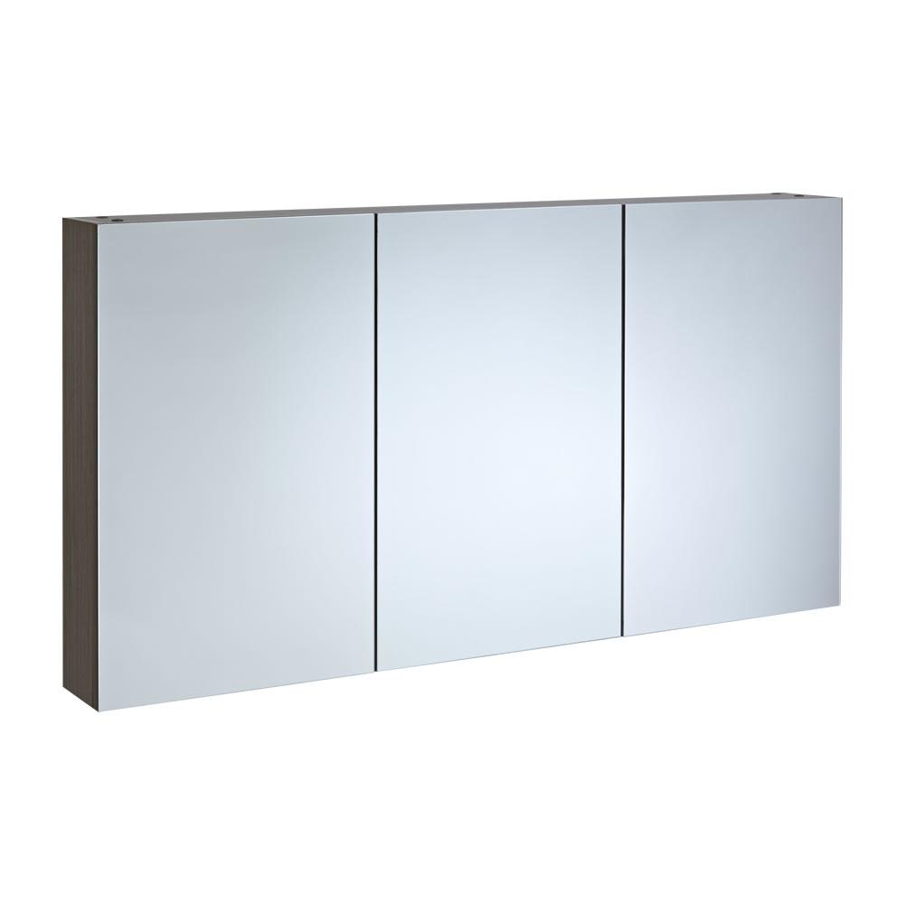 Spiegelschrank Dreiteilig Eiche