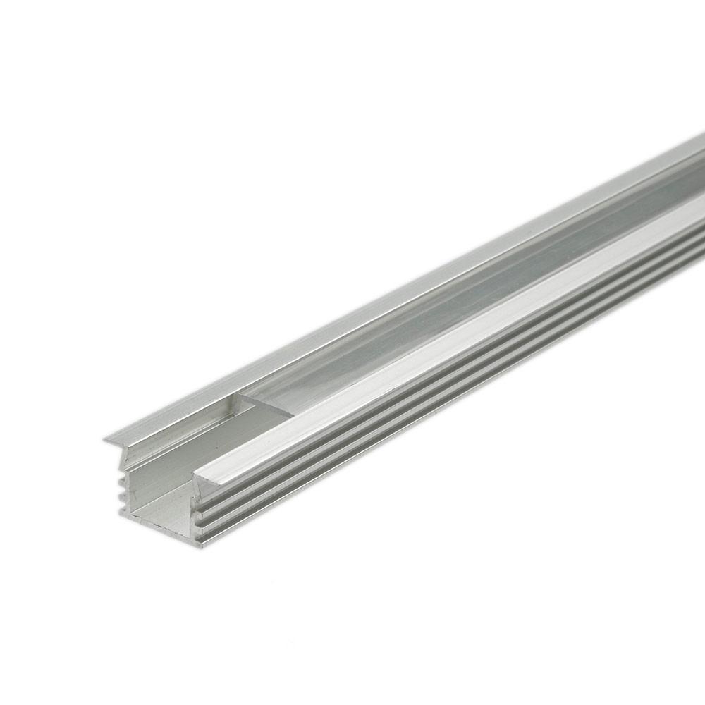 Biard 5x Einbau-Befestigungs-Schiene Eckig 100cm für LED Strips