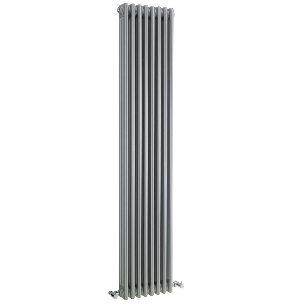 Gliederheizkörper Vertikal 3 Säulen Nostalgie Silber 1800mm x 381mm 1558W - Regent
