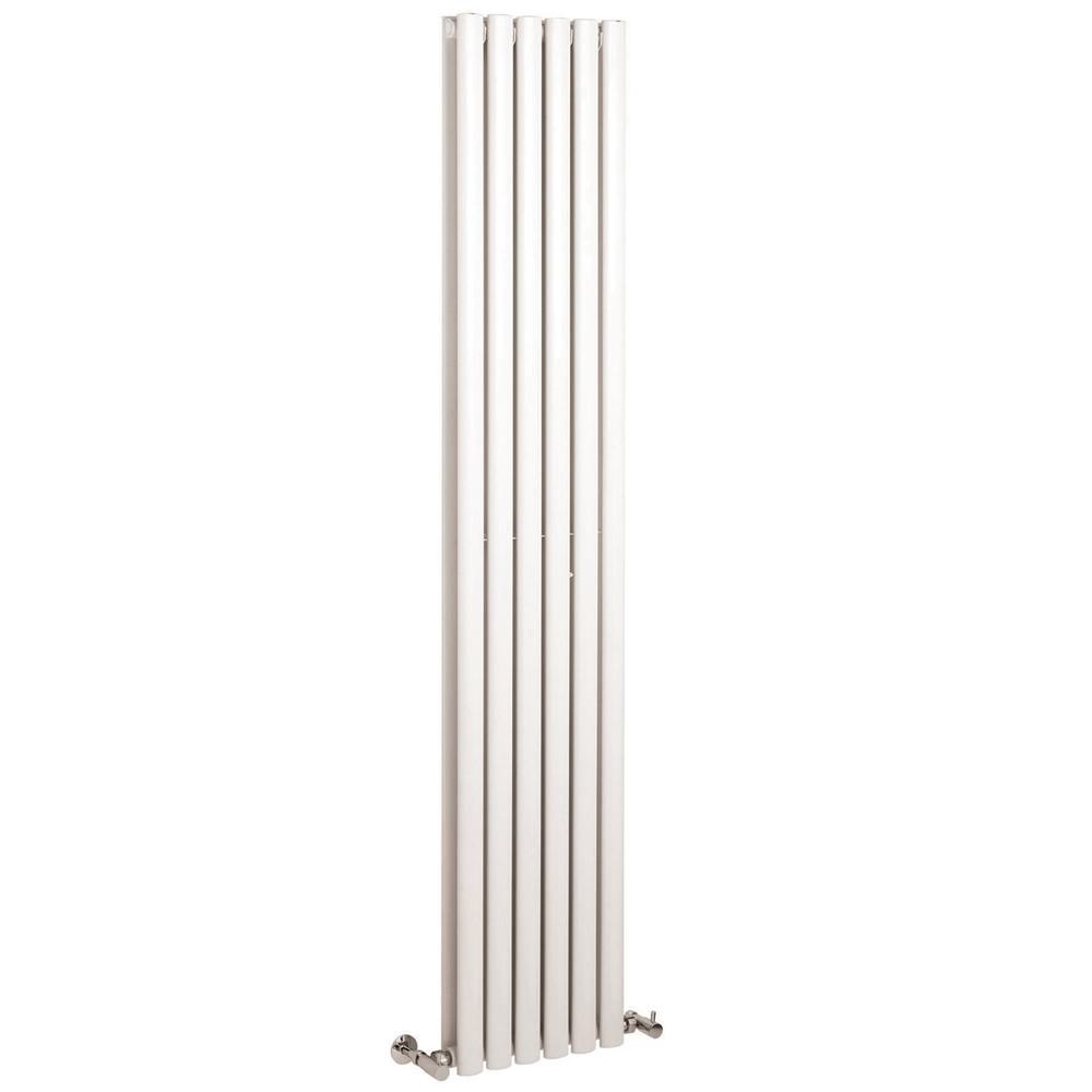 Design Heizkörper Vertikal Doppellagig Weiß 1780mm x 354mm 1401W - Revive
