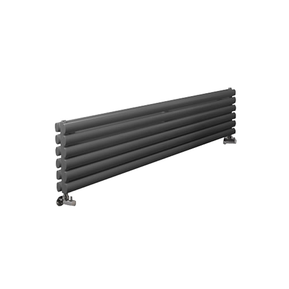 Design Heizkörper Horizontal Doppellagig Anthrazit 354mm x 1780mm 1325W - Revive