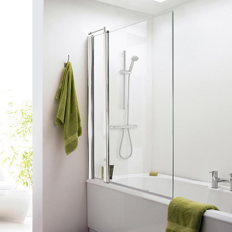 Badewannenaufsatz mit fixiertem Paneel für Badewannen 1435 mm x 1005 mm