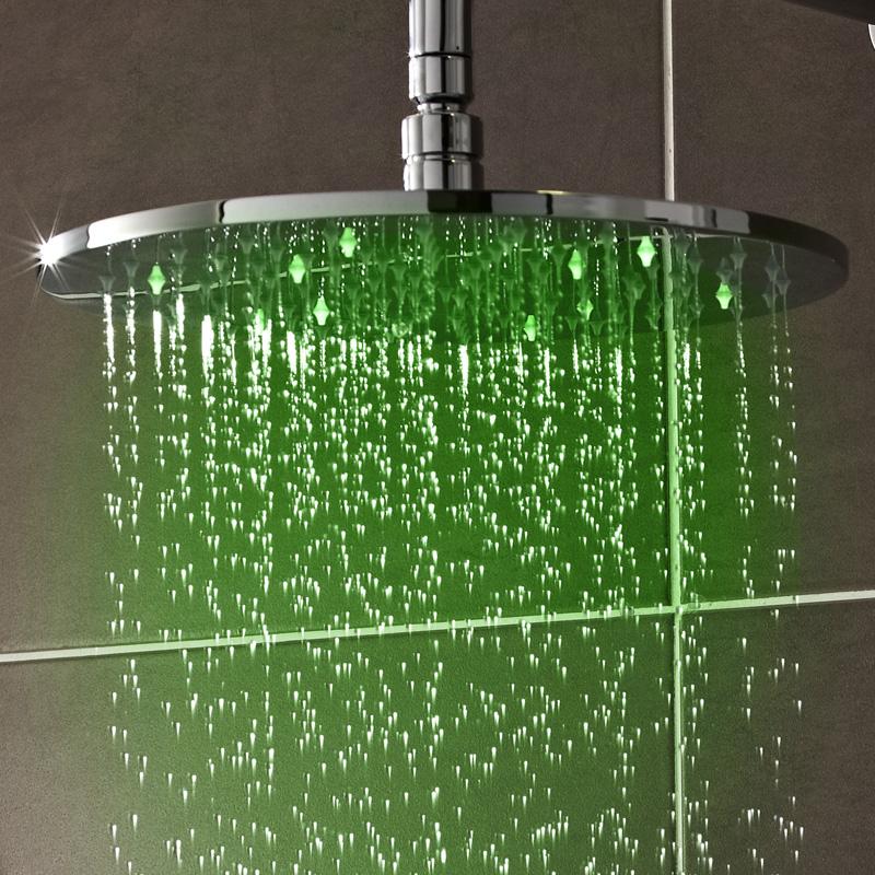 Duschkopf Rund mit LED-Licht 20 cm