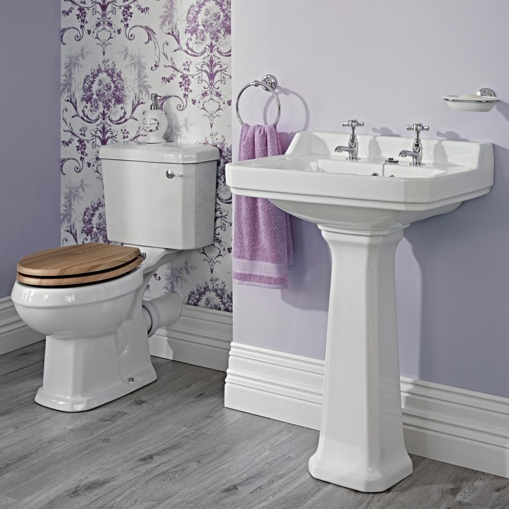 Badausstattung Richmond -Waschbecken groß & WC-Set