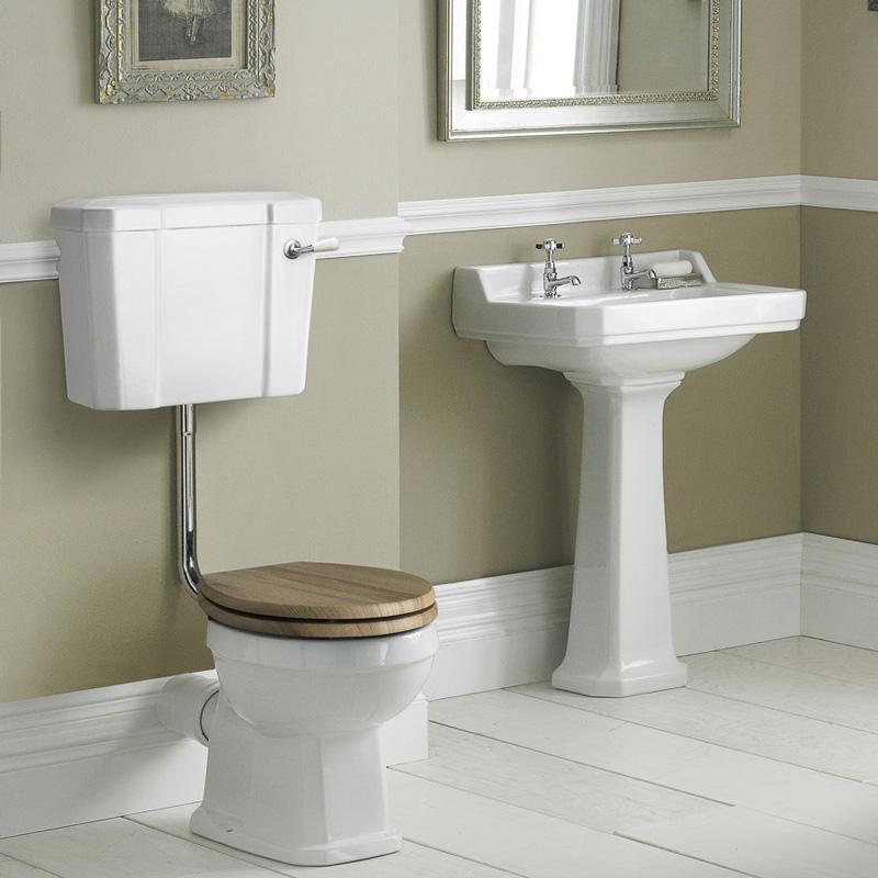 Badausstattung Richmond - WC-Set & Keramik-Waschbecken mittelgroß 2-Loch