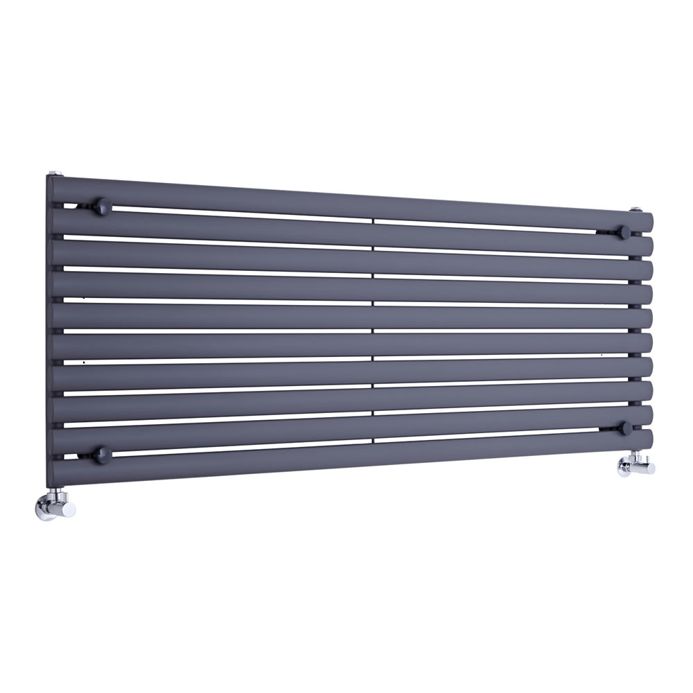 Design Heizkörper Horizontal Einlagig Anthrazit 590mm x 1600mm 1299W - Revive