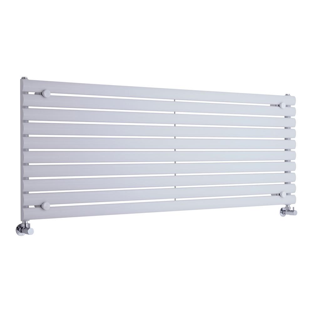 Design Heizkörper Horizontal Einlagig Weiß 590mm x 1600mm 1299W - Revive