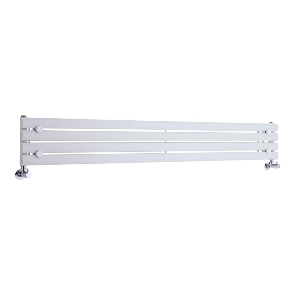 Design Heizkörper Horizontal Einlagig Weiß 236mm x 1780mm 647W - Revive