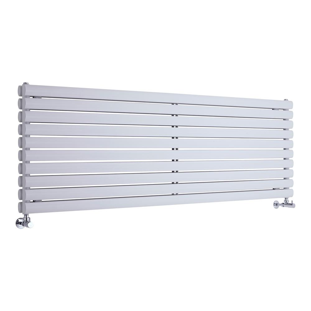 Design Heizkörper Horizontal Doppellagig Weiß 590mm x 1780mm 2066W - Revive