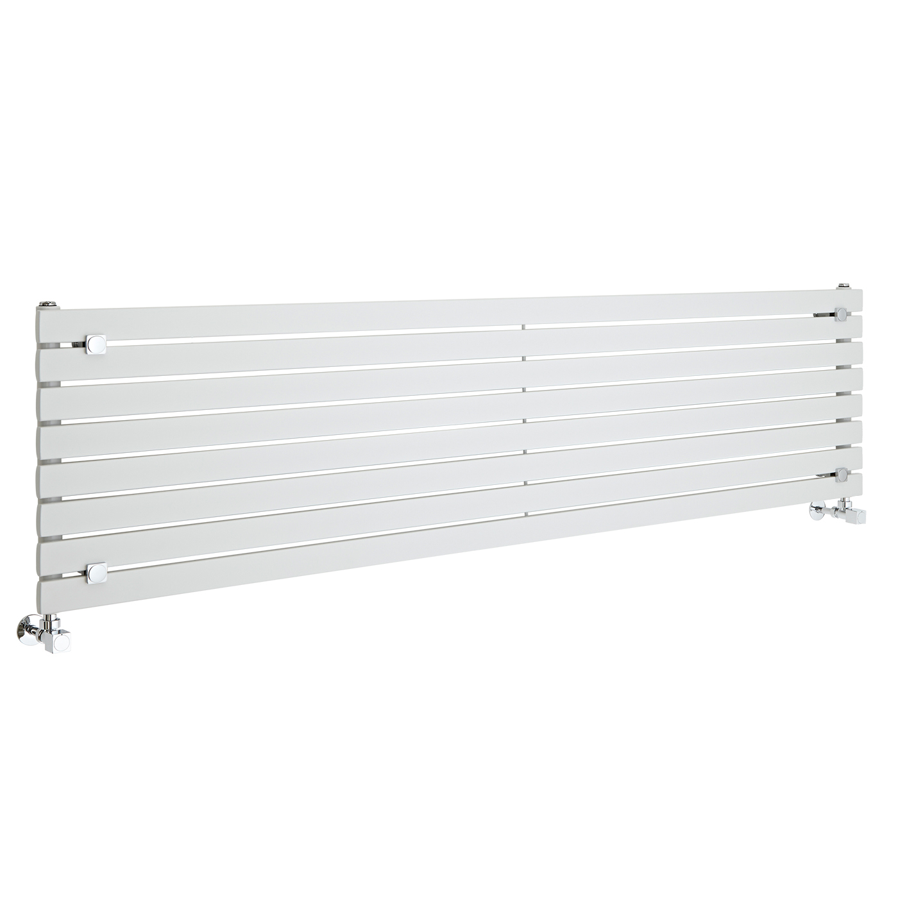 Design Heizkörper Horizontal Einlagig Weiß 472mm x 1780mm 1145W - Sloane