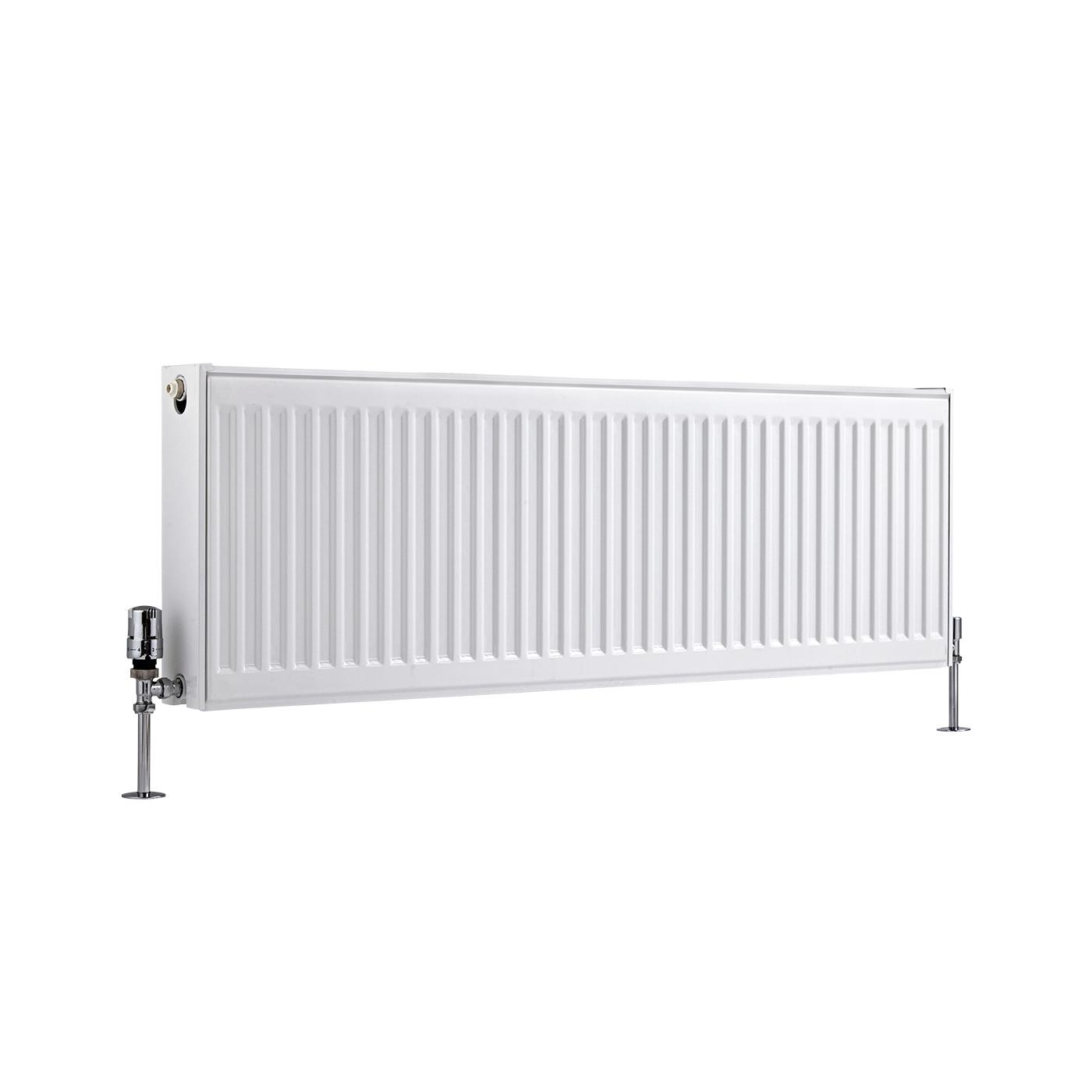 Kompaktheizkörper Horizontal Typ 22 Weiß 400mm x 1200mm 1387W - Eco