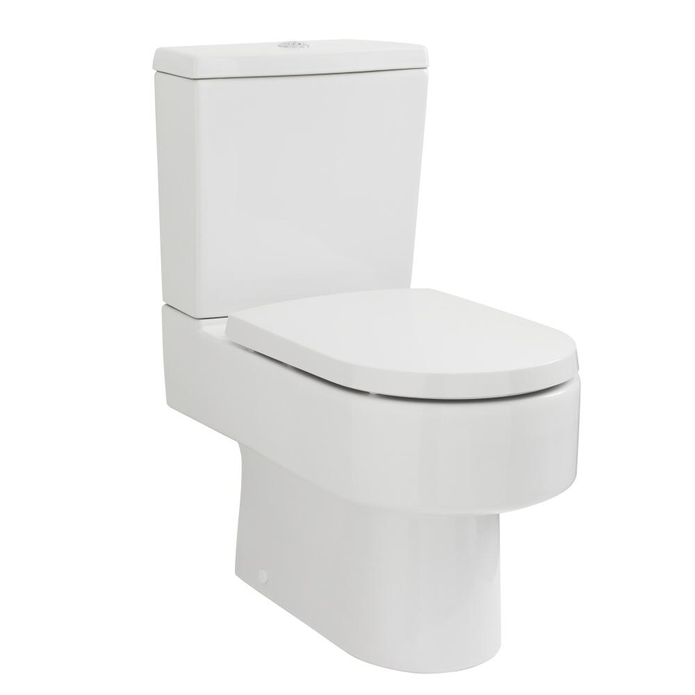 Toilette Keramik mit Spülkasten und Toilettensitz