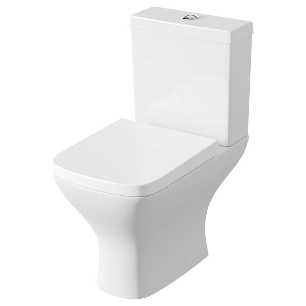 Moderne Toilette inkl. Zisterne und Sitz mit Absenkautomatik - Milton