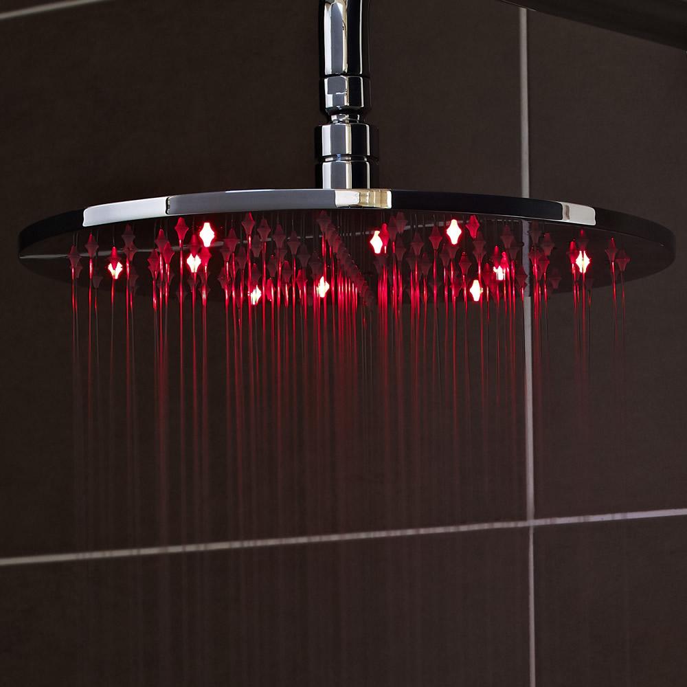 Duschkopf Rund mit LED-Licht 20cm Wassersparend - Eco