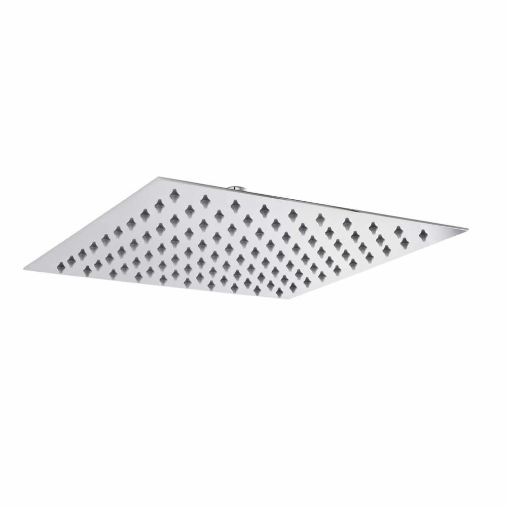 Wassersparender Duschkopf Edelstahl - quadratisch - 300mm