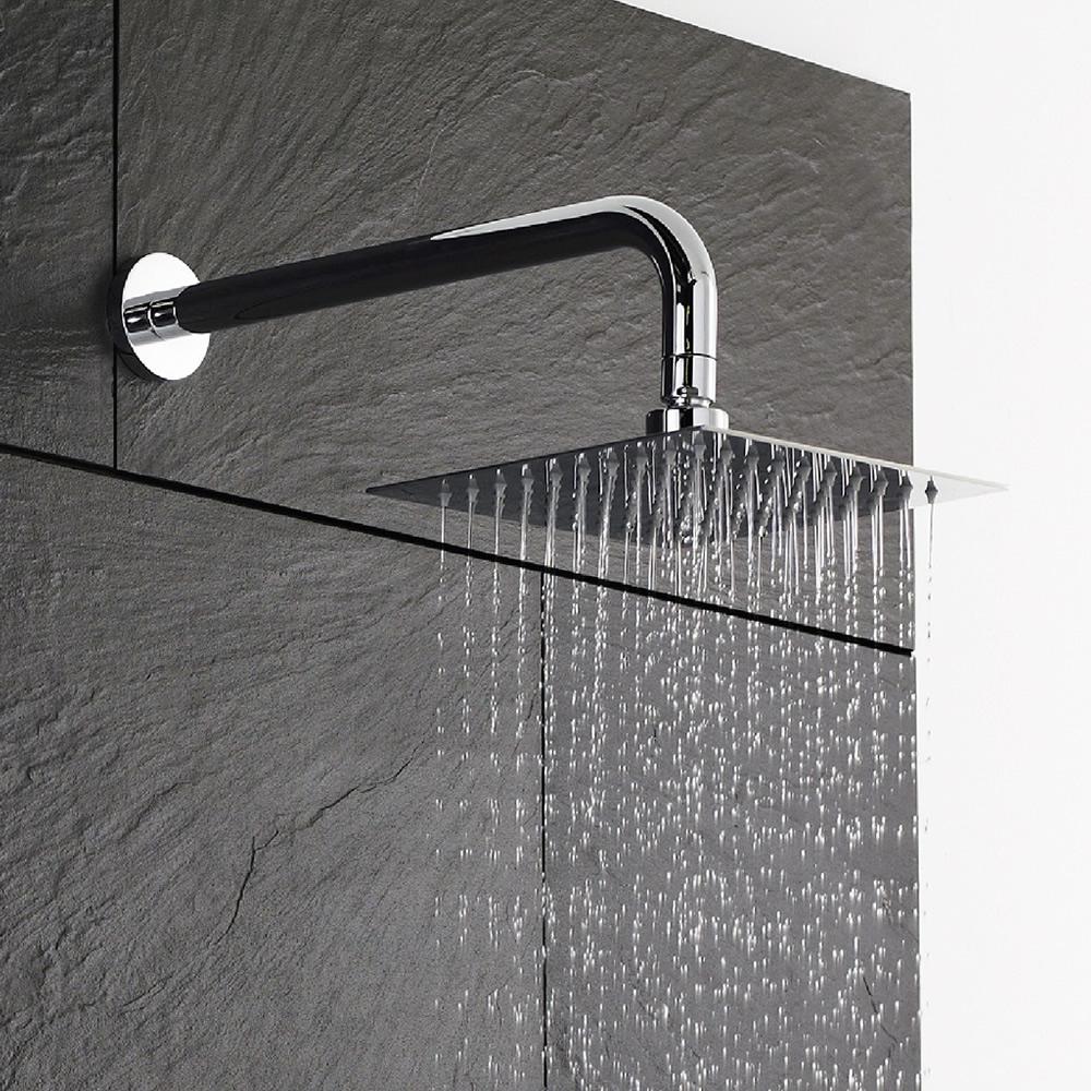 Wassersparender Duschkopf Edelstahl - Quadratisch - 200 x 200 mm