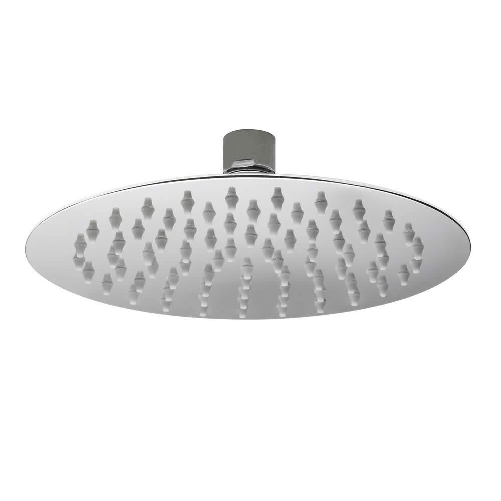 Wassersparender Duschkopf aus Edelstahl - rund - 200mm