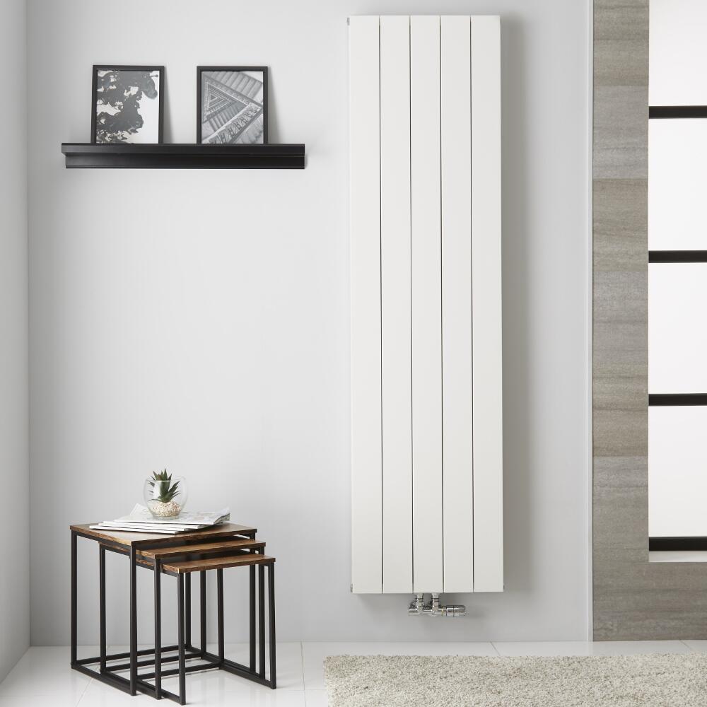 Design Heizkörper Aluminium Doppellagig Vertikal Weiß 1800mm x 470mm - Kett