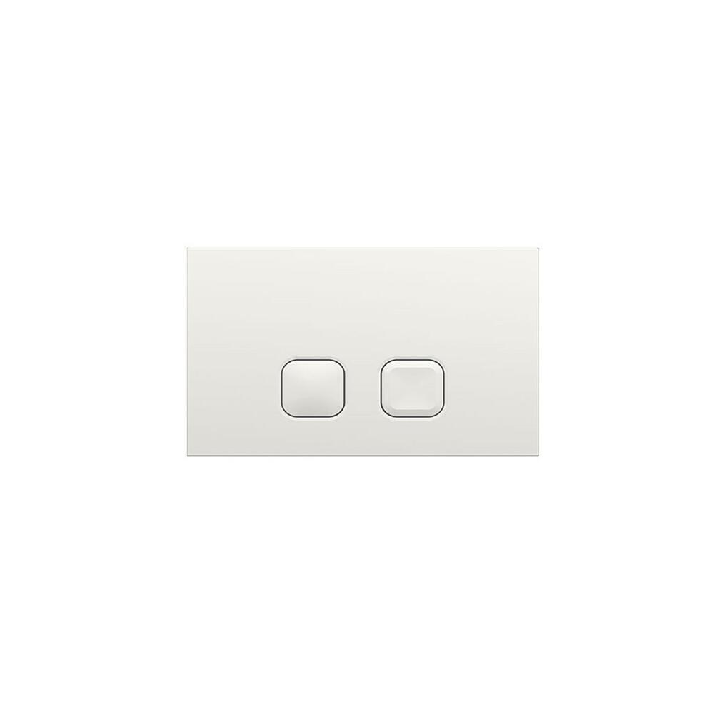 Betätigungsplatte Zweimengentechnik Quadratische Tasten Weiß 150mm x 230mm - Cluo