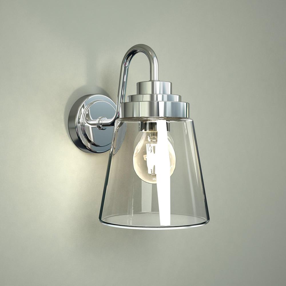 Yogo LED Wandleuchte für Badezimmer Chrom