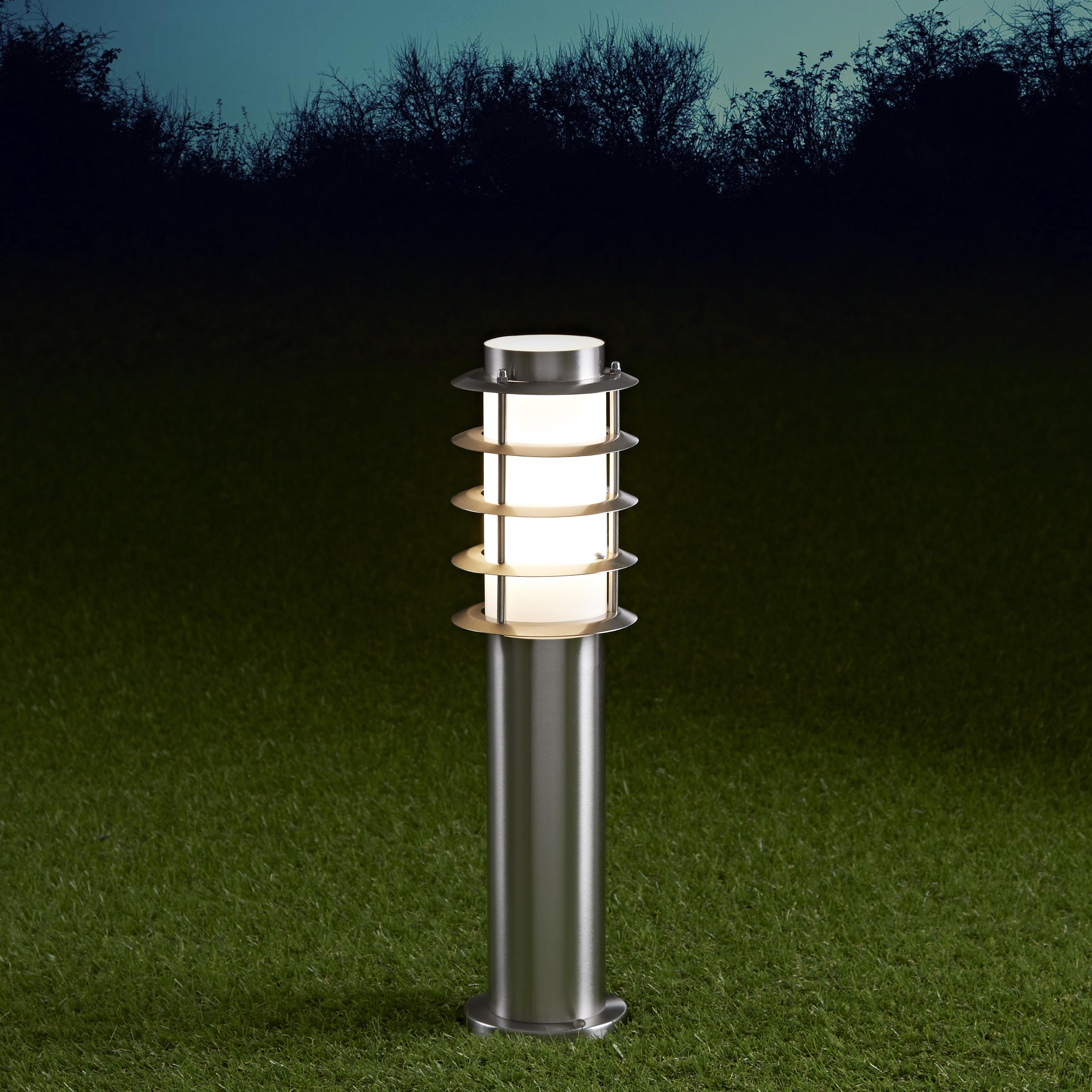 Biard Belford 450mm Pollerleuchte Edelstahl Chrom inklusive Leuchtmittel