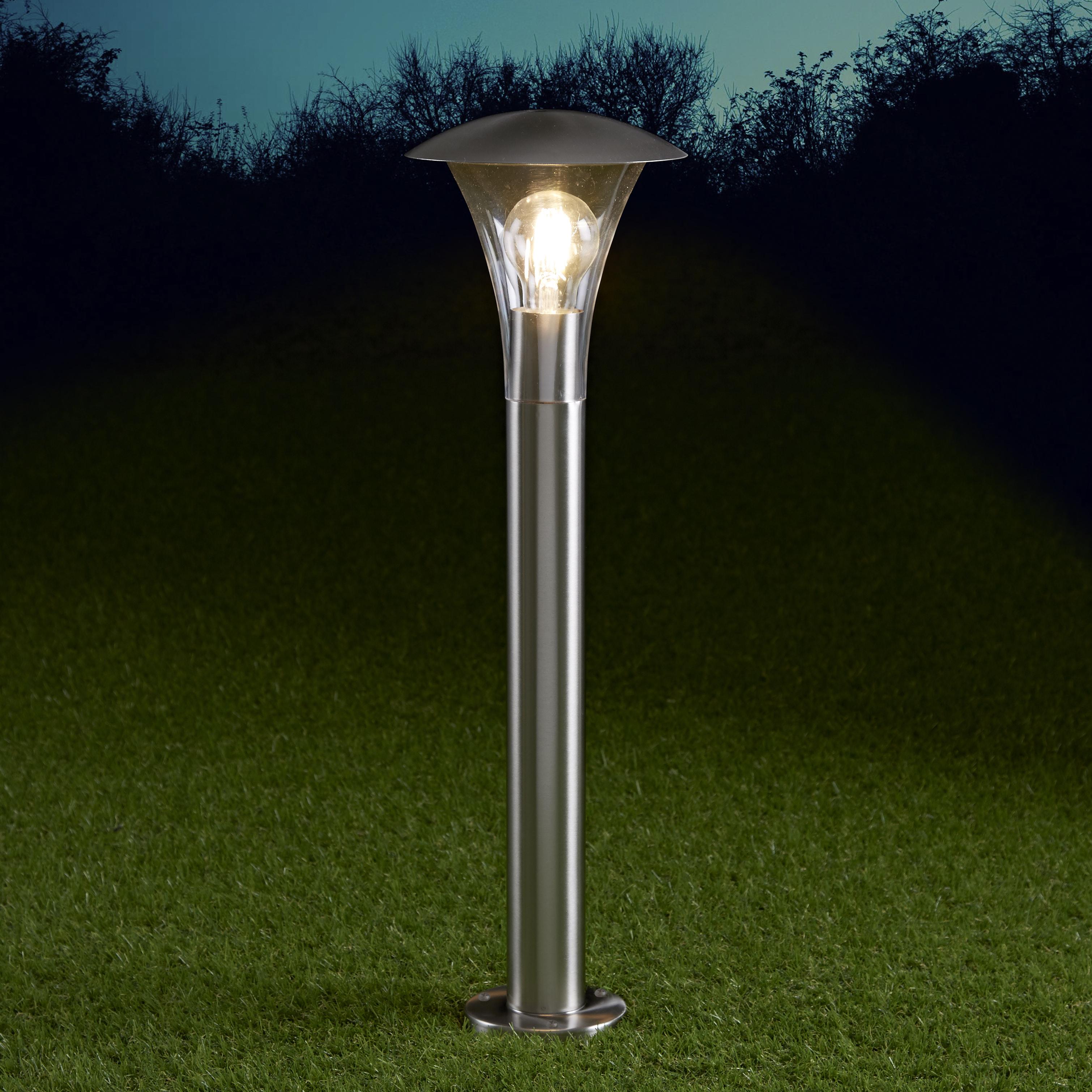 Biard Cholet 600mm Pollerleuchte Edelstahl Chrom inklusive Leuchtmittel