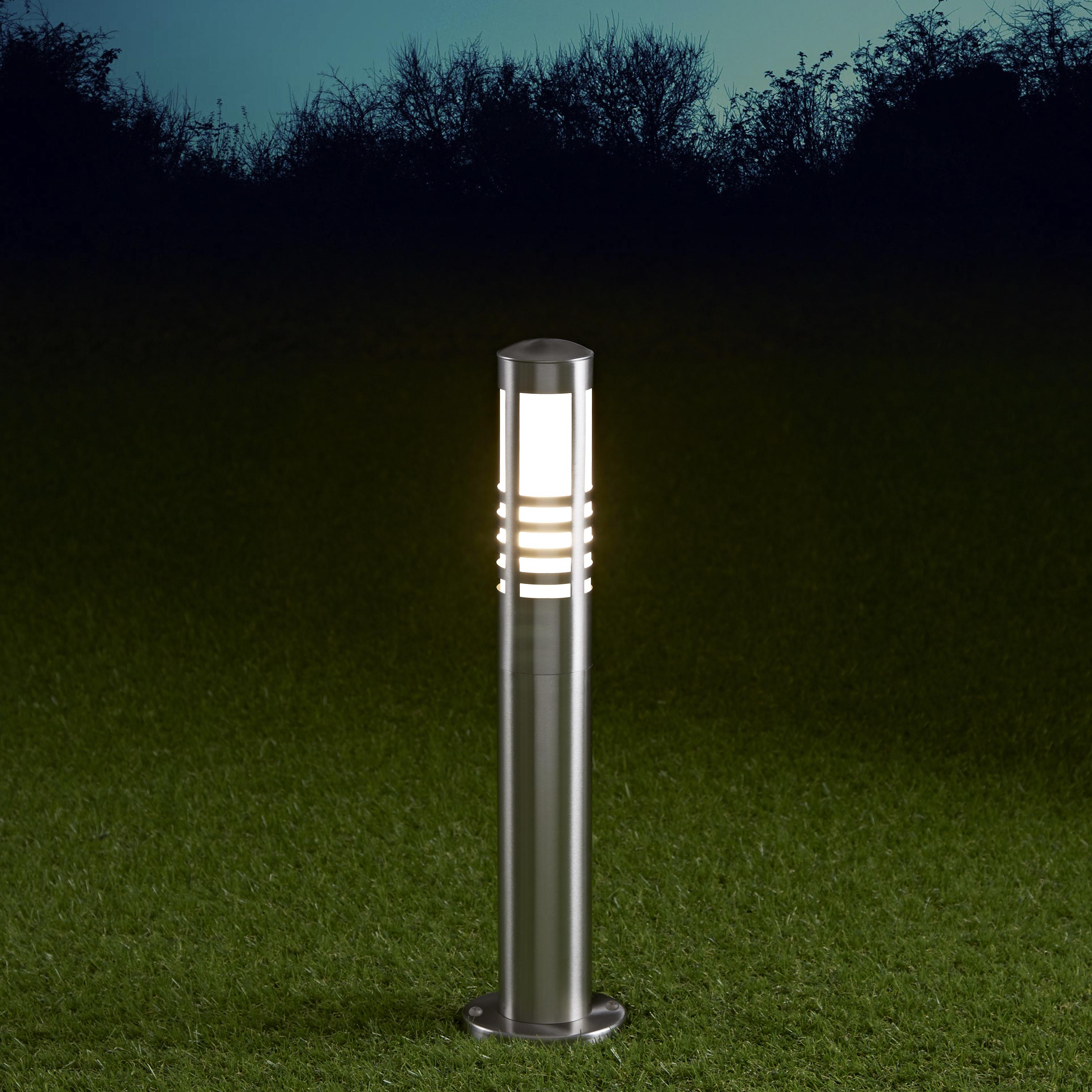 Biard Orleans 450mm Pollerleuchte Edelstahl Chrom inklusive Leuchtmittel