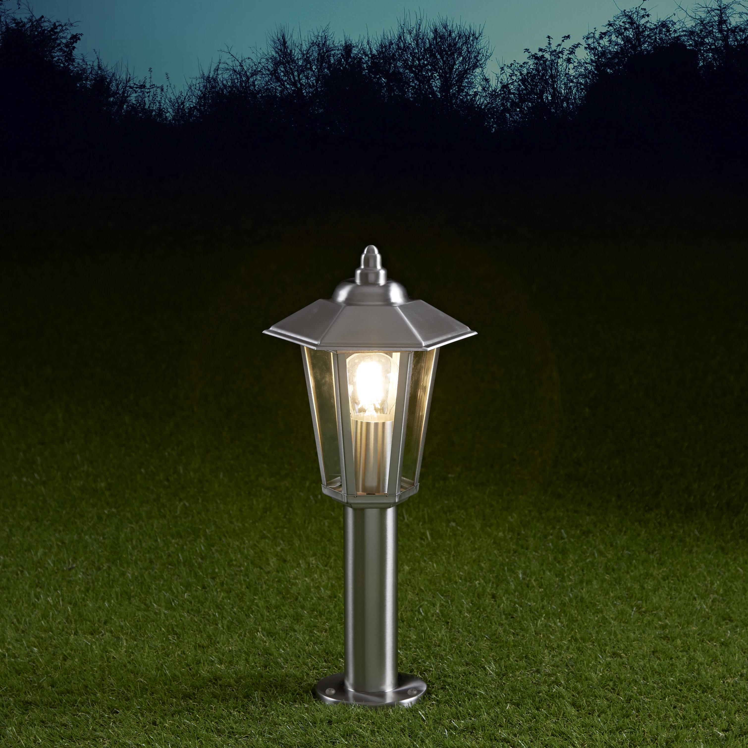 Biard Cannes 450mm Pollerleuchte Edelstahl Chrom inklusive Leuchtmittel