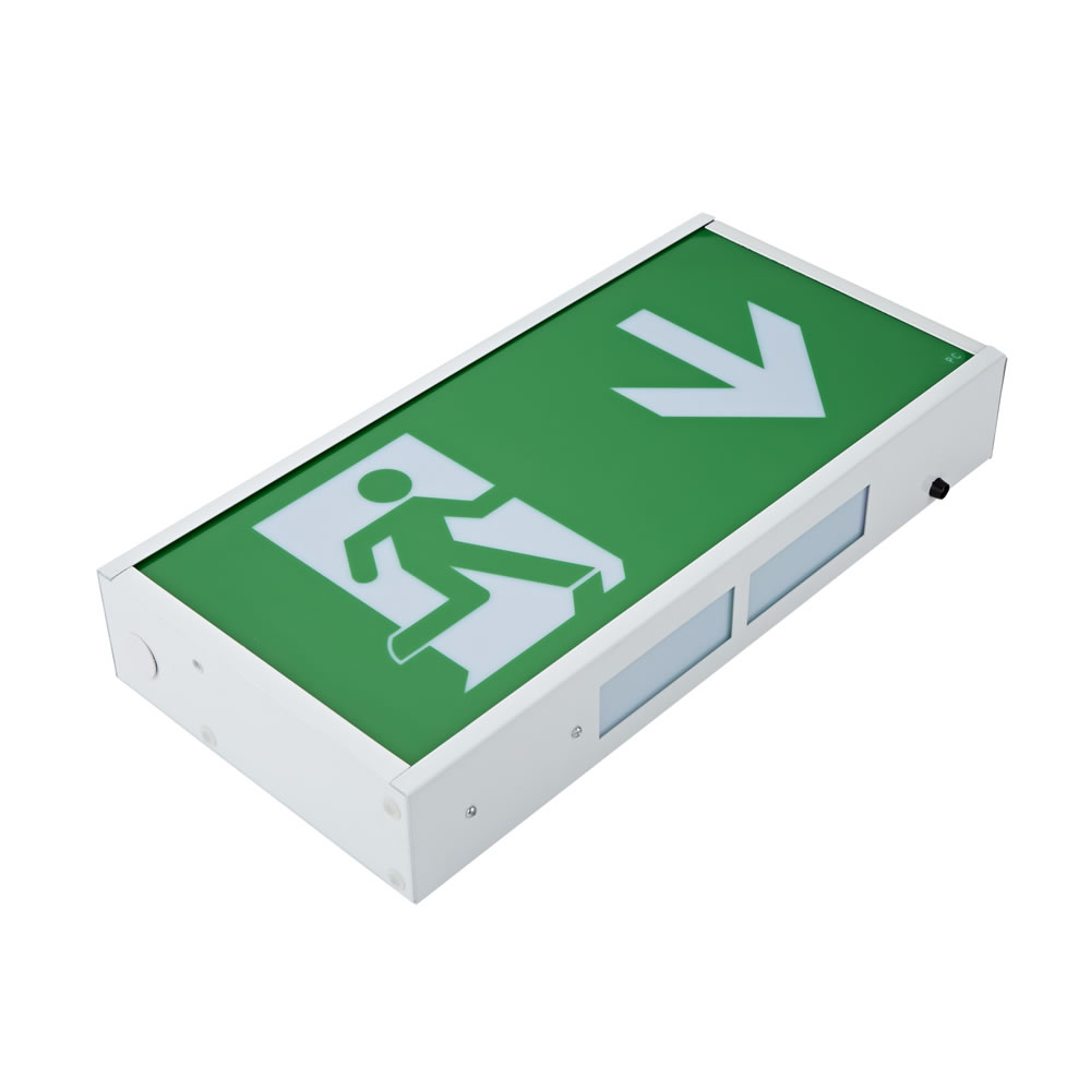 Biard 3W LED Fluchtwegleuchte Dauerschaltung oder Betriebsschaltung - Pfeilrichtung Wählbar