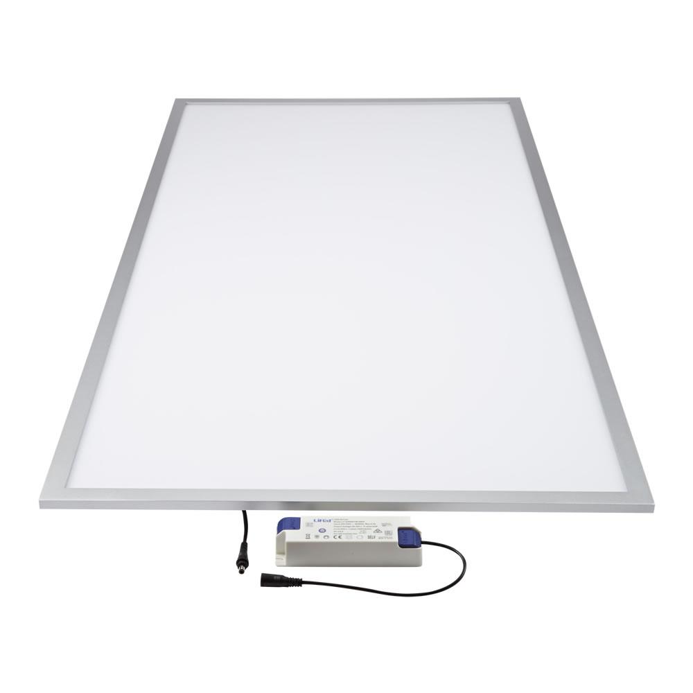Biard 40W LED Paneelleuchte 60cm x 120cm Silberner Rahmen