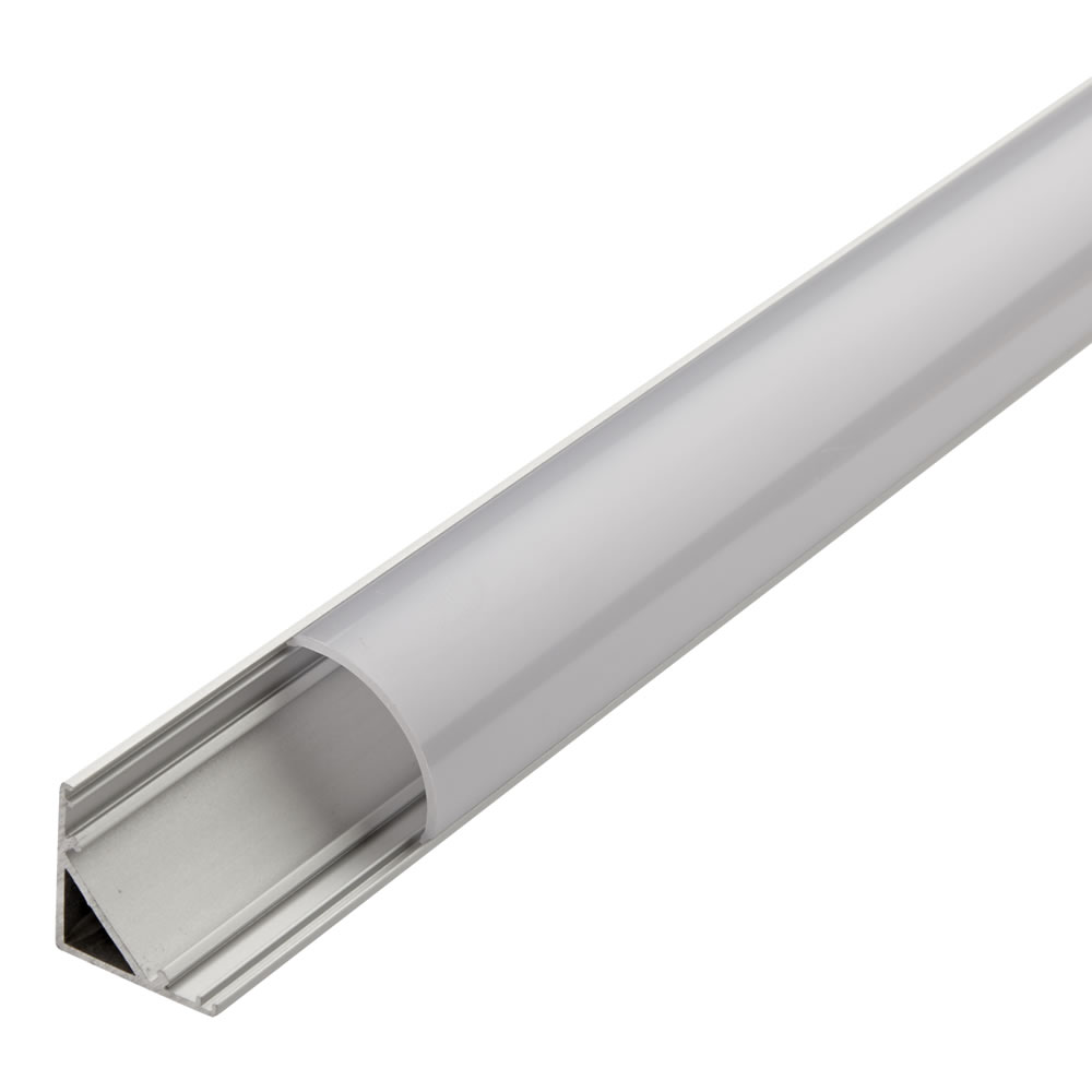 Biard Befestigungs-Schiene V-förmig 100cm für LED Strips mit runder Blende