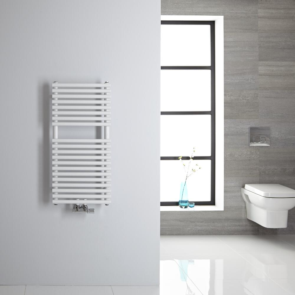 Handtuchheizkörper Mittelanschluss Vertikal Weiß 304 Watt 835mm x 400mm - Magera