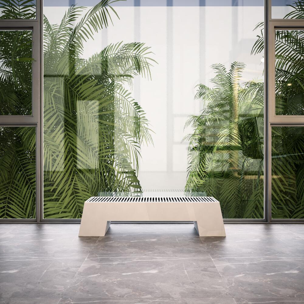 Design Konvektor Horizontal Weiß 200mm x 1200mm 916W - Adva