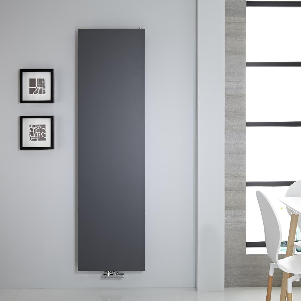 Design Flachheizkörper Vertikal Anthrazit 1800mm x 500mm 1123W - Rubi