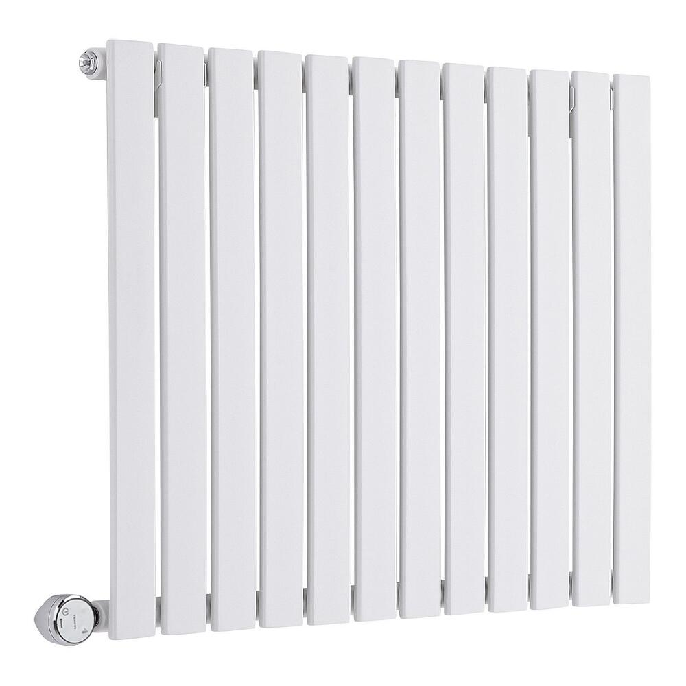 Design Heizkörper Elektrisch Horizontal Einlagig Weiß 635mm x 840mm inkl. ein 600W Heizelement - Delta