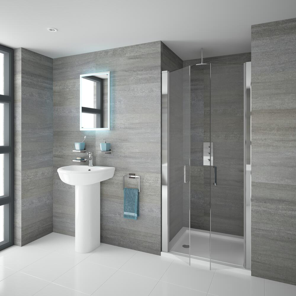 Doppelte Pendeltür Dusche 900mm - Portland