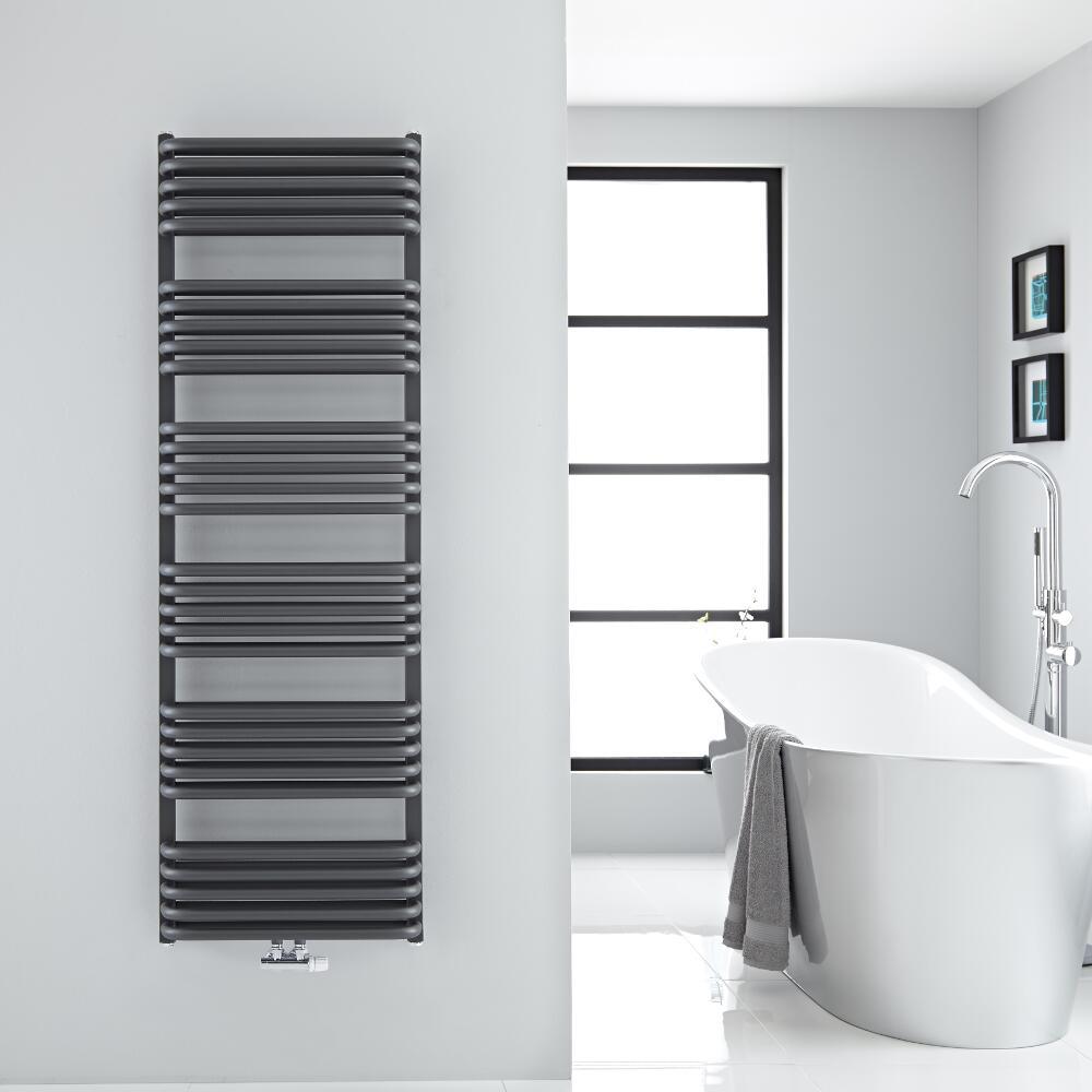 Handtuchheizkörper Vertikal Mittelanschluss Anthrazit 1533mm x 500mm 1524W - Arch