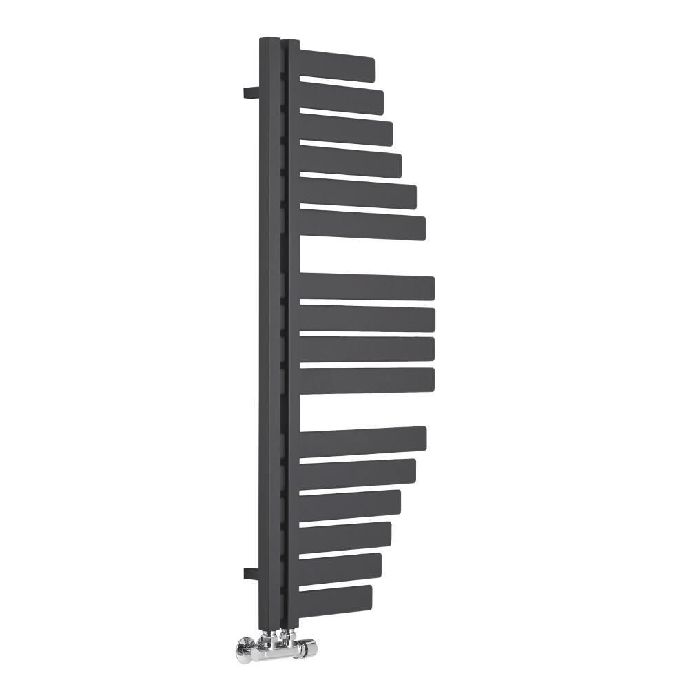 Handtuchheizkörper Mittelanschluss Anthrazit 507W 1100mm x 483mm - Lazio