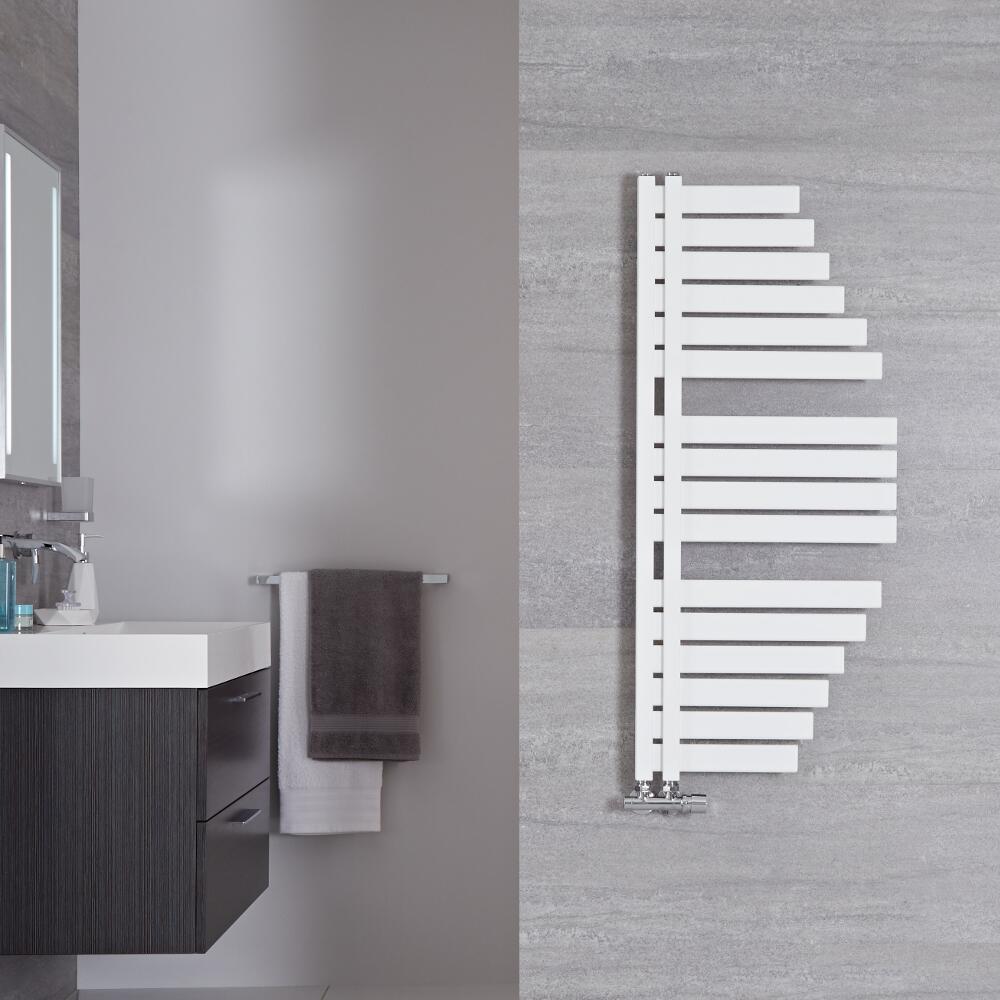 Handtuchheizkörper Mittelanschluss Mineral Weiß 507W 1100mm x 483mm - Lazio