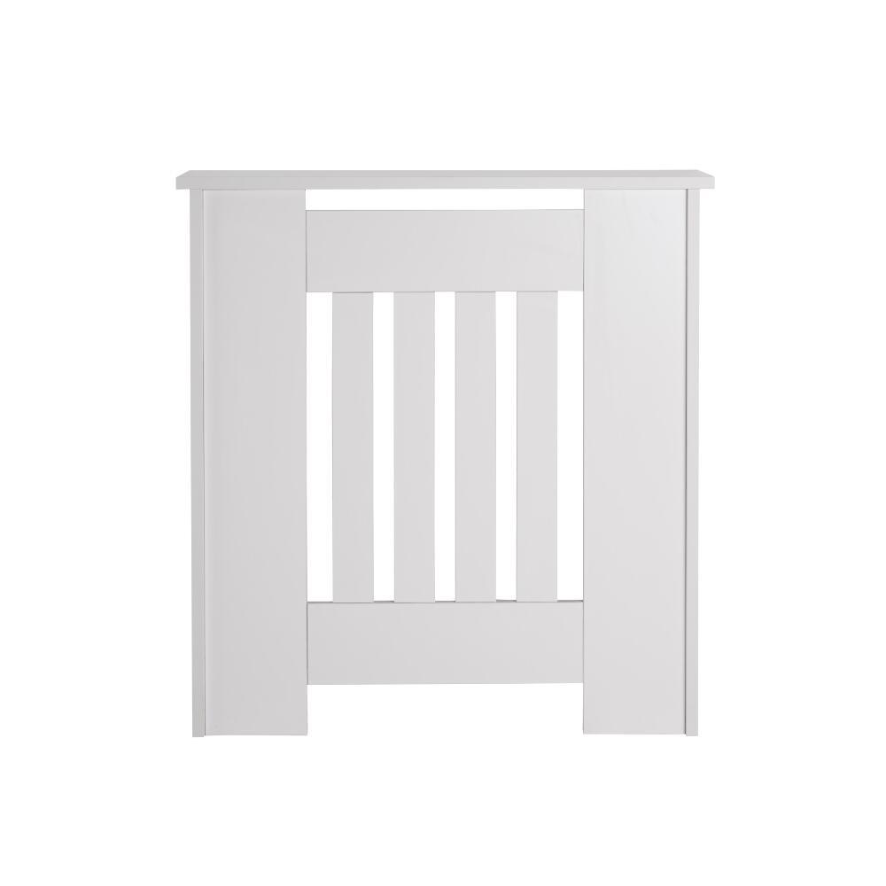 Heizkörperverkleidung Holz Horizontal Weiß 820mm x 780mm - Sutton