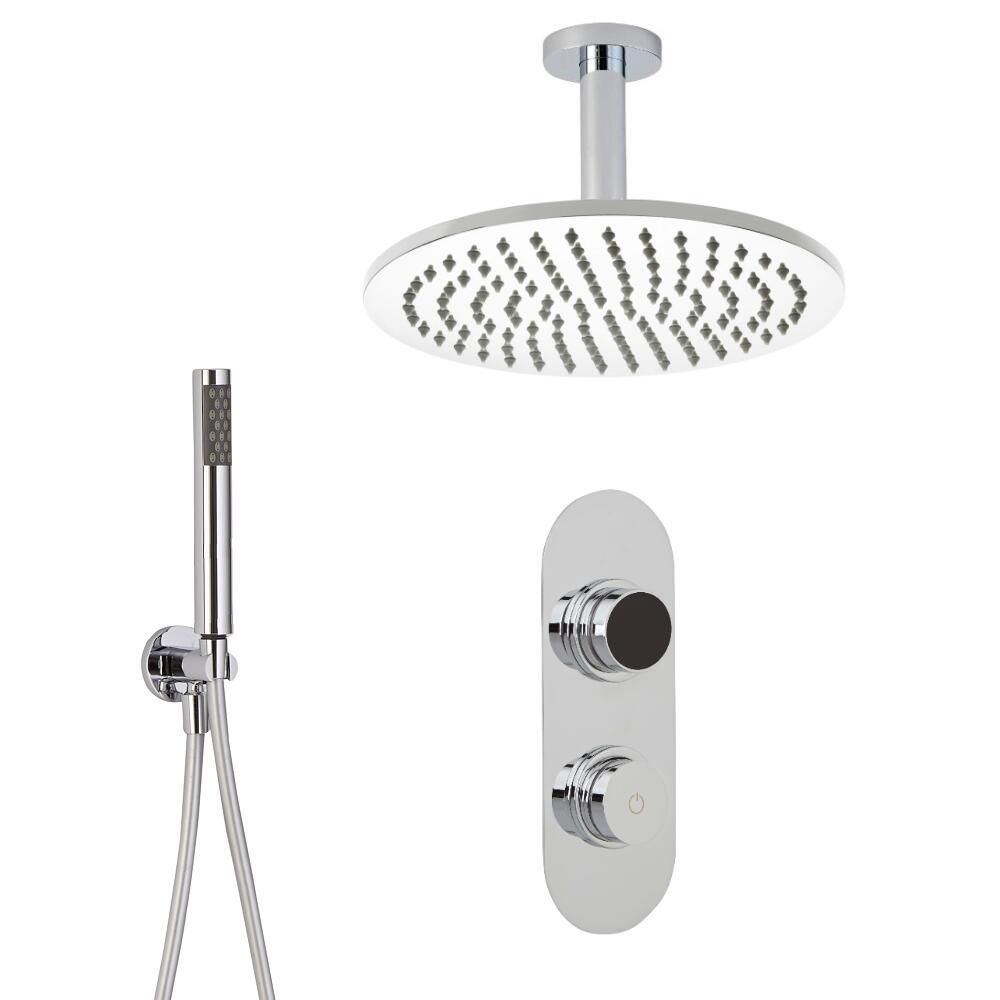 Digitale Dusche für zwei Funktionen, inkl. rundem Duschkopf zur Deckenmontage