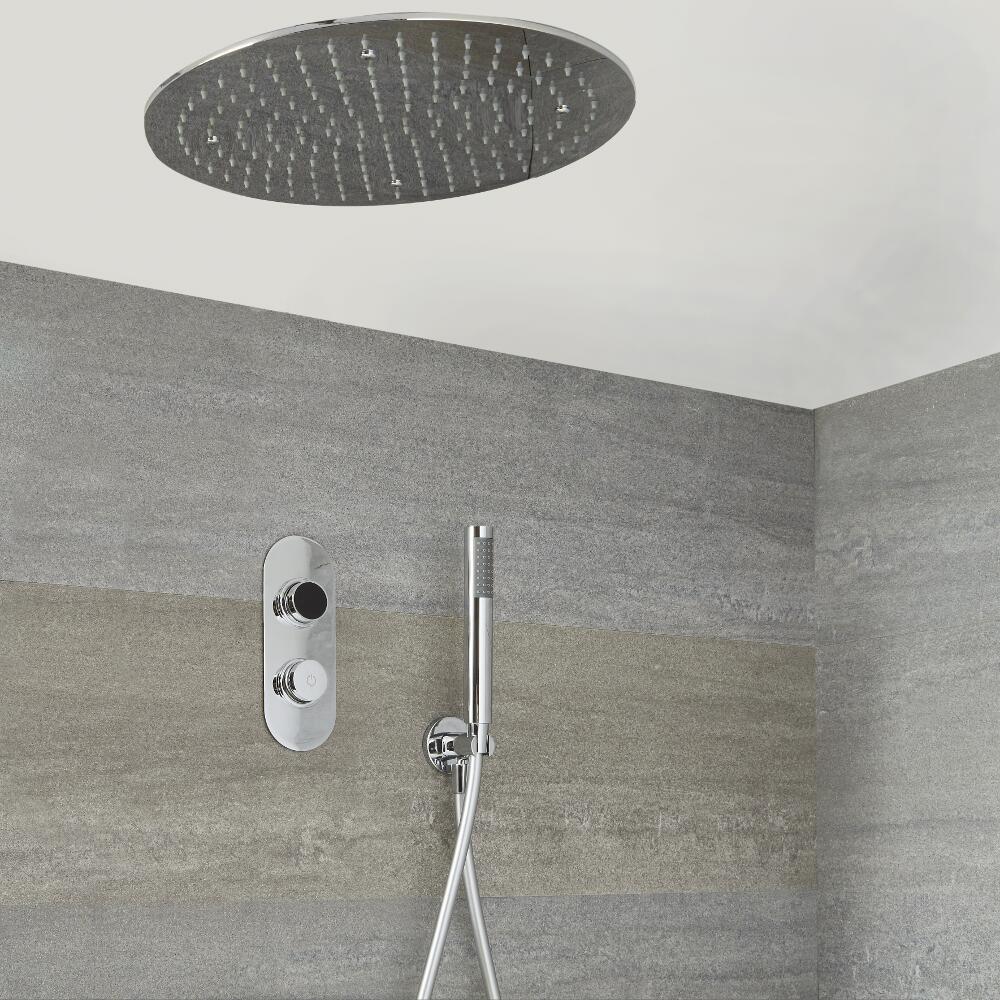Digitale Dusche für zwei Funktionen, inkl. rundem Unterputzduschkopf - Narus