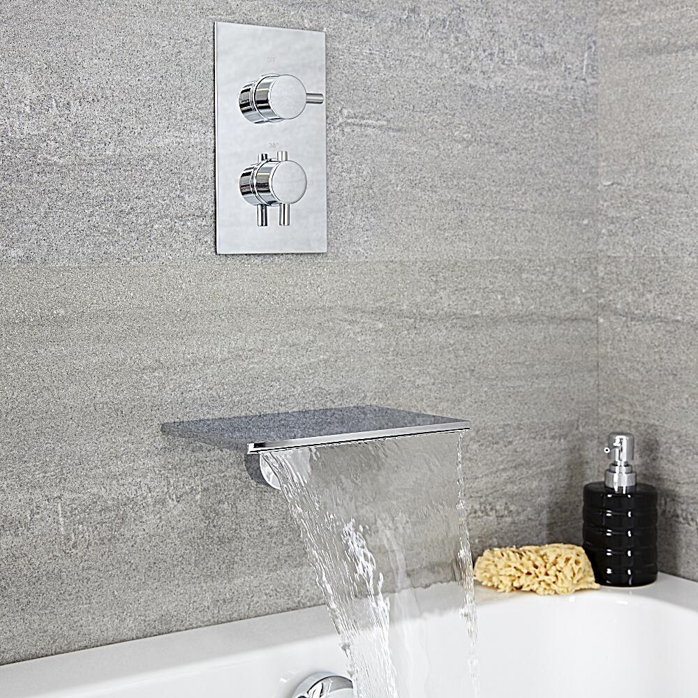 Badewannenarmatur mit Wasserfallauslauf - Como