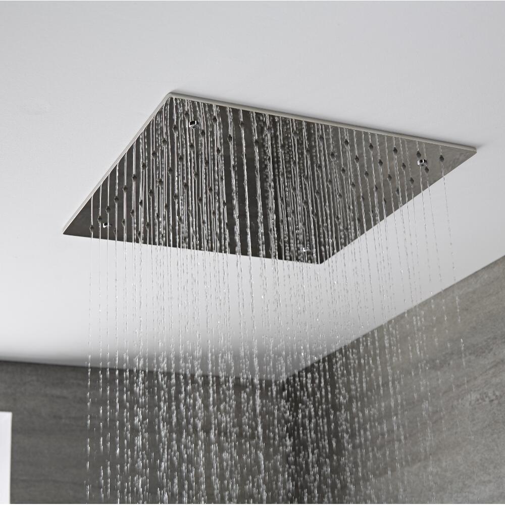 Duschkopf Edelstahl Unterputz Quadratisch 400mm - Tratham