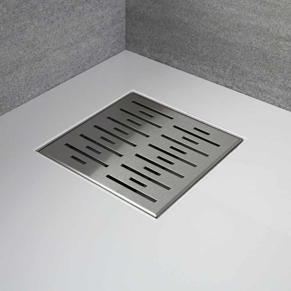 Walk-In Duschwand 900mm mit Seitenteil, schwarzes Profil & wählbarer Duschrinne - Nox