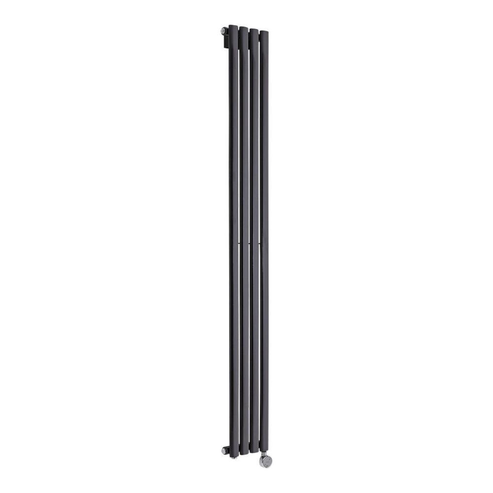 Design Heizkörper Elektrisch Vertikal Einlagig Schwarz 1780mm x 236mm inkl. ein 600W Heizelement - Revive