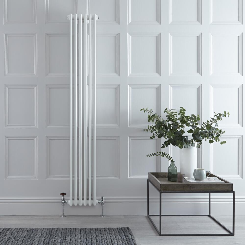 Gliederheizkörper Vertikal 2 Säulen Nostalgie Weiß 1800mm x 290mm 934W - Regent