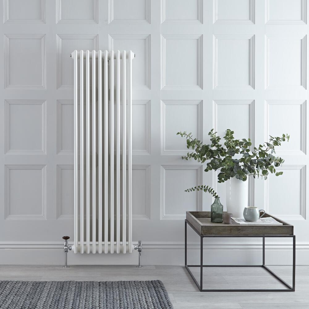 Gliederheizkörper Vertikal 3 Säulen Nostalgie Weiß 1500mm x 473mm 1734W - Regent